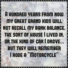 I rode