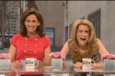 Kristen Wiig as Kathie Lee Gifford and Jenny Slate as Hoda Kotb. This has to be one of my all time favorite SNL skits of all time!!!!!