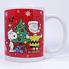 Snoopy Charlie Brown Ho Ho Ho Coffee Mug Cup 12oz Peanuts Woodstock Galerie k464