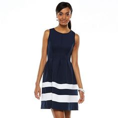 Apt. 9® Colorblock Fit & Flare Scuba Dress - Love this, now how to accessorize....yellow?