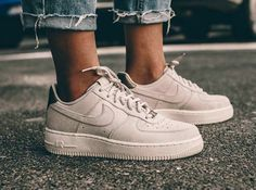 NIKE Women's Shoes - Nike Air Force 1 Low Suede PRM 'Gamma Grey Phantom' - Find deals and best selling products for Nike Shoes for Women Nike Free Shoes, Nike Shoes Outlet, Running Shoes Nike, Sock Shoes, Cute Shoes, Me Too Shoes, Basket Nike Air, Baskets Nike, Nike Wmns