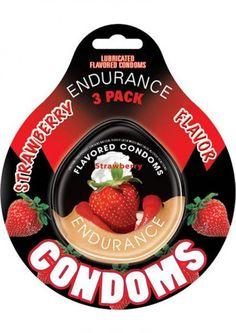 Lubricated Flavored Endurance Condoms 3 Per Pack Strawberry #SexToysShop #SexToys #Sexy #condoms #condom #Contempo #Impulse #Lifestyles #Durex #NonLatex #Latex #contempo #Kimono #resevoir #lelo #lubricated #XXL #Trojan #BritishCondoms #Trustex #Strawberry #Magnum #Spermicidal #Ecstasy #ClimaxControl #Naturalamb #Endurance