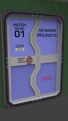 Thinkgeek Sci Fi Door Decals For One Side Of Pillar
