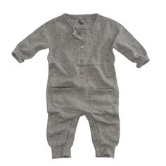 "Knitted jumpsuit ""Kingfisher"" in colour grey melange. www.z8.nl/z8newborn"