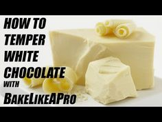 How To Temper White Chocolate Tutorial - Detailed BUT EASY ! I'm going to show you how to EASILY temper white chocolate. Best White Chocolate, Types Of Chocolate, Cute Bakery, How To Temper Chocolate, Easy Youtube, Christmas Chocolate, Dessert Recipes, Desserts, Fudge