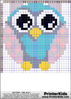Owl #87 - Animals - 212 pattern