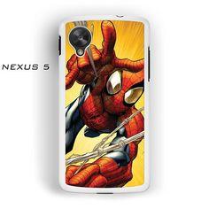 Spiderman Attack Illustration for Nexus 4/Nexus 5 phonecases