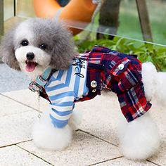Cool Classic Grids Pattern Overall Pants for Pets Dogs (Assorted Colors, Sizes) – USD $ 23.79