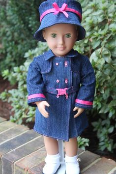 American Girl Trench Coat Rain Coat Coat by Nickyscloset1 on Etsy, $17.99