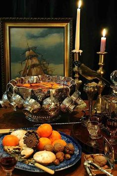 Elegant vintage punch bowl set on a rich autumn coloured table design. Just beautiful. Punch Bowl Set, Happy Thanksgiving, Thanksgiving Blessings, Thanksgiving Celebration, Autumn Home, Fall Halloween, Halloween Party, Table Settings, Table Decorations