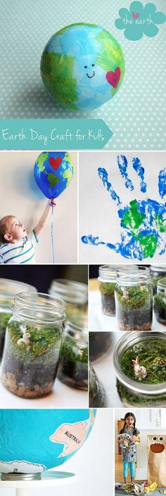 Earth Day Crafts With Kids #earthdaycrafts