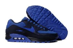 Mens Nike Air Max 90 Black Blue Sky blue look great feeling, shoes are very suitable for young people, very fine work. Basket Nike Air, Baskets Nike, Nike Store, Nike Running, Running Shoes For Men, Mens Nike Air, Nike Men, Air Max Sneakers, Sneakers Nike
