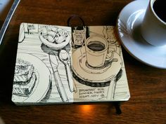 Graham Smith-Restaurant sketchbook Lots of good Art Journal drawings on his website. This is my goal!