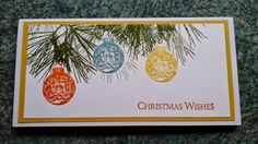 Used Ornamental Pine stamps from Stampin up