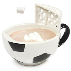 MAX'IS Creations The Soccer Mug With A Goal 14 oz oversized ceramic soccer ball cup or bowl for coffee, tea, cocoa, soup, fun gift for sports fans and futbol lovers Soccer Fans, Play Soccer, Soccer Players, Soccer Stuff, Girls Soccer, Nike Soccer, Soccer Cleats, Soccer Room, Soccer Goalie