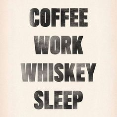 Daily schedule, courtesy of Thunder Road Distillery ☕️ Monday Motivation