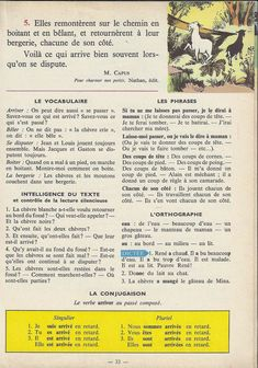 Manuels anciens: Tranchart, Levert, Rognoni, Bien lire et comprendre Cours élémentaire (1963) : grandes images French Learning Books, Teaching French, English Story Books, French Grammar, French Lessons, Learn French, Storytelling, Activities, Armoire