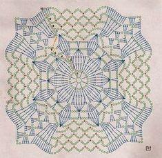 Crochet motifs chart In the round Circle, 4 quads ends as a circle Granny Pattern, Crochet Motif Patterns, Crochet Blocks, Crochet Mandala, Crochet Diagram, Crochet Chart, Crochet Squares, Thread Crochet, Filet Crochet