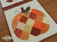 24 blocks pumpkin blocks   ... pumpkins table runner pattern by shabby fabrics with you the pumpkins