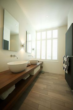 #bathroom at Villa Kivits, Netherlands, with #TerraTones collection  http://www.mosa.nl/us/products/collection/terra-tones/