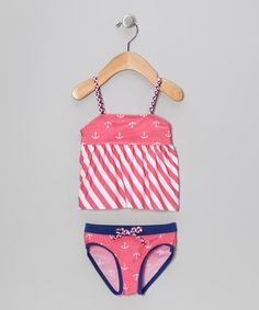Take a look at this Pink & White Stripe Nautical Tankini - Infant, Toddler & Girls by Rugged Bear on today! Kids Swimwear, Swimsuits, Baby Swimming, Pink And White Stripes, Simple Prints, Infant Toddler, Toddler Girls, Infant Girls, Zapatos