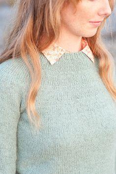 Ravelry: Basic Round-Yoke Unisex Pullover pattern by Hannah Fettig