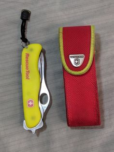 Victorinox 53900 Rescue Tool Knife Yellow #Victorinox Rescue Tool, Victorinox Swiss Army Knife, Folding Knives, Tools, Yellow, Ebay, Instruments, Butterfly Knife, Pocket Knives