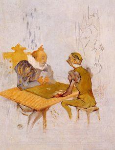The Athenaeum - Le Belle et la Bete - Le Besigue (Henri de Toulouse-Lautrec) 1895