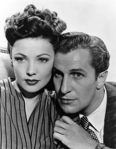 Vincent Price and Gene Tierney in Laura 1944 Hollywood Icons, Golden Age Of Hollywood, Hollywood Stars, Classic Hollywood, Old Hollywood, Hollywood Glamour, Gene Tierney, Classic Movie Stars, Classic Movies