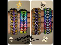 """My New Reversible """" Skeley """" Rainbow Loom Bracelet/ How To Tutorial - YouTube"""