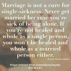 Kendra Norman quote about love and marriage