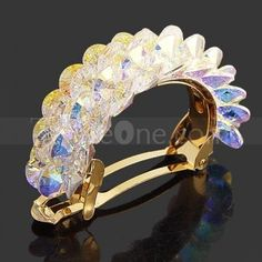 transparent crystal Masson clip