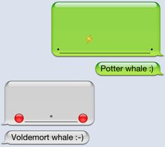 Now who doesn't like an iPhone whale? That's right, nobody :) Harry Potter Whale
