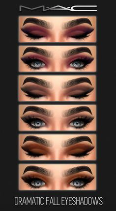 Sims 4 CC's - The Best: Dramatic Fall Eye-shadows by MAC Makeup - makeup products - makeup tutorial Sims Four, The Sims 4 Pc, Maxis, Sims 4 Mac, Sims 2, Sims 4 Mods Clothes, Sims 4 Clothing, Sombras Mac, Los Sims 4 Mods