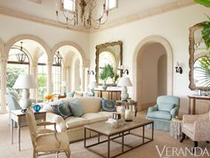 """""""We wanted as much light coming into the house as possible, to live outdoors as much as possible, and, since it's right on the ocean, to be able to walk through the living room with sand on our feet and not have to worry about it,"""" says the wife. Laura Resen  - Veranda.com"""