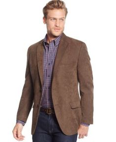 Tasso Elba Classic-Fit Microsuede Sport Coat, Only at Macy's