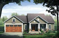 single story house plans with porches   type one story style one story craftsman 1508 sq ft main floor 3 bdrms ...