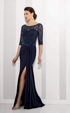 a660e00829 Enchanting Lace Cascade Evening Dress by Cameron BlakeFestive and  fantastic