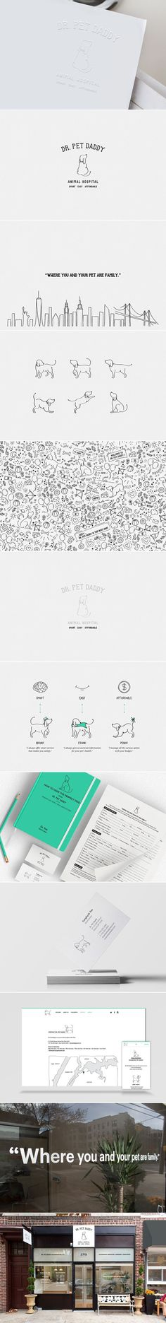 [ Dr. Pet Daddy ] [ Credit: Hyun Sul ] [ Graphic Design, Identity Design, Logo Design, Package Design, Editorial Design, Art Direction, Branding, Web Design, Photography, Interior Design, Illustration, Drawing ] - Tap the pin for the most adorable pawtastic fur baby apparel! You'll love the dog clothes and cat clothes!