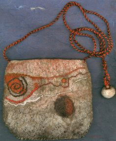 Orodruin wet felted bag by ThistleWoolworks on Etsy