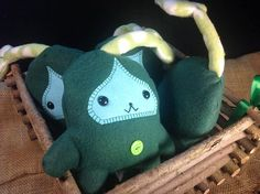 Green Woodland Leaf Creature Plushie & Storybook set by omgNikki, $32.00