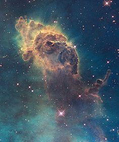 "A nebula (Latin for ""cloud"";[1] pl. nebulae, nebulæ, or nebulas) is an interstellar cloud of dust, hydrogen, helium and other ionized gases. - Wikipedia, the free encyclopedia"