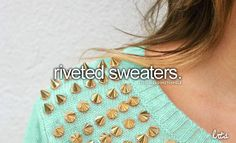 riveted sweaters