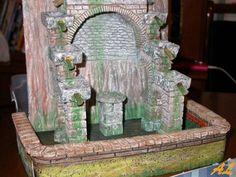 Tutorial de una fuente historiada – Nacimiento en Belén Coolpix, Bird Feeders, Outdoor Decor, Home Decor, Pinwheel Tutorial, Fonts, Nativity Scenes, Miniatures, Crates