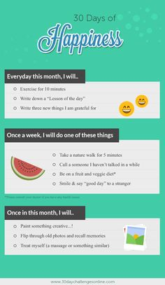 30 Day Happiness Challenge