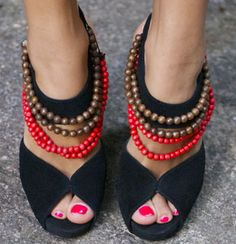 Really cute beaded shoes
