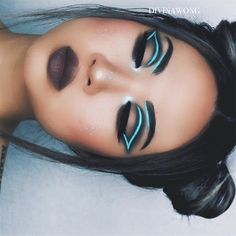 "12.9k Likes, 216 Comments - ☾ D I V I N A (@divinamuse) on Instagram: ""- baby blue -  @katvondbeauty MetalMatte palette  MAC lipstick ""stone""  @makeupforeverofficial…"""