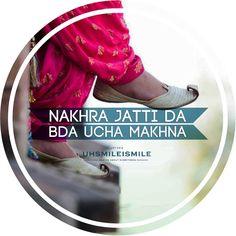 Punjabi Attitude Quotes, Punjabi Love Quotes, Attitude Quotes For Girls, Desi Quotes, Girly Quotes, Sweet Couple Quotes, Punjabi Captions, Daughter Love Quotes, Swag Quotes
