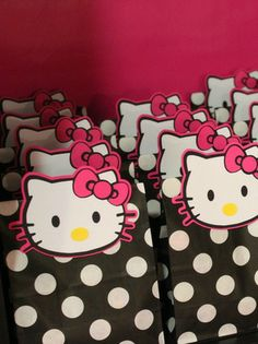 Hello Kitty Birthday Party favors!  See more party ideas at CatchMyParty.com!