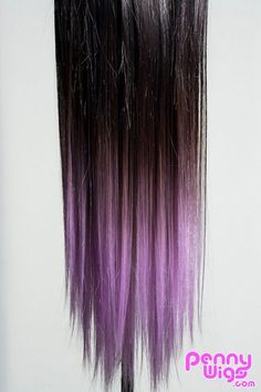Ombré Lavender Dip Dyed 7pcs Straight Clip-In Hair Extensions from PennyWigs.com